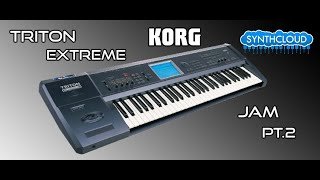 Korg Triton extreme performed by s4k team TheGreyMaster ( space4keys Keyboard solo )