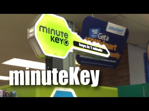 Copying a key with the minuteKey kiosk at Walmart