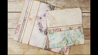 Envelope Folder with Tab Dividers & Pocket Page~Wanderlust~Floral Whimsy~#11 by jenofeve designs