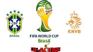 Symulacja meczu o 3. miejsce mistrzostw świata w Brazylii - Brazylia-Holandia