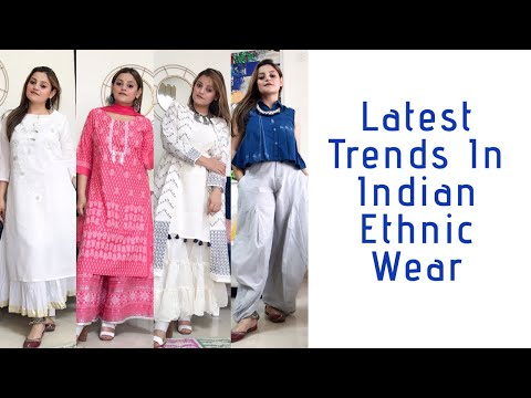 LATEST TRENDS IN INDIAN ETHNIC WEAR | EDGY INDIAN FASHION | #ethnicwear #indianfashion