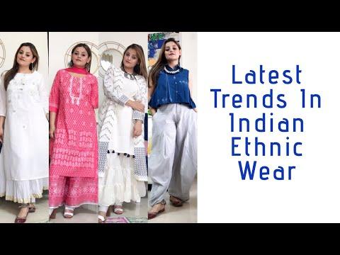 LATEST TRENDS IN INDIAN ETHNIC WEAR | EDGY INDIAN FASHION | #ethnicwear #indianfashion