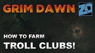 Grim Dawn: How to Farm Troll Clubs! 2H High Damage Weapons (Beta Build 19)