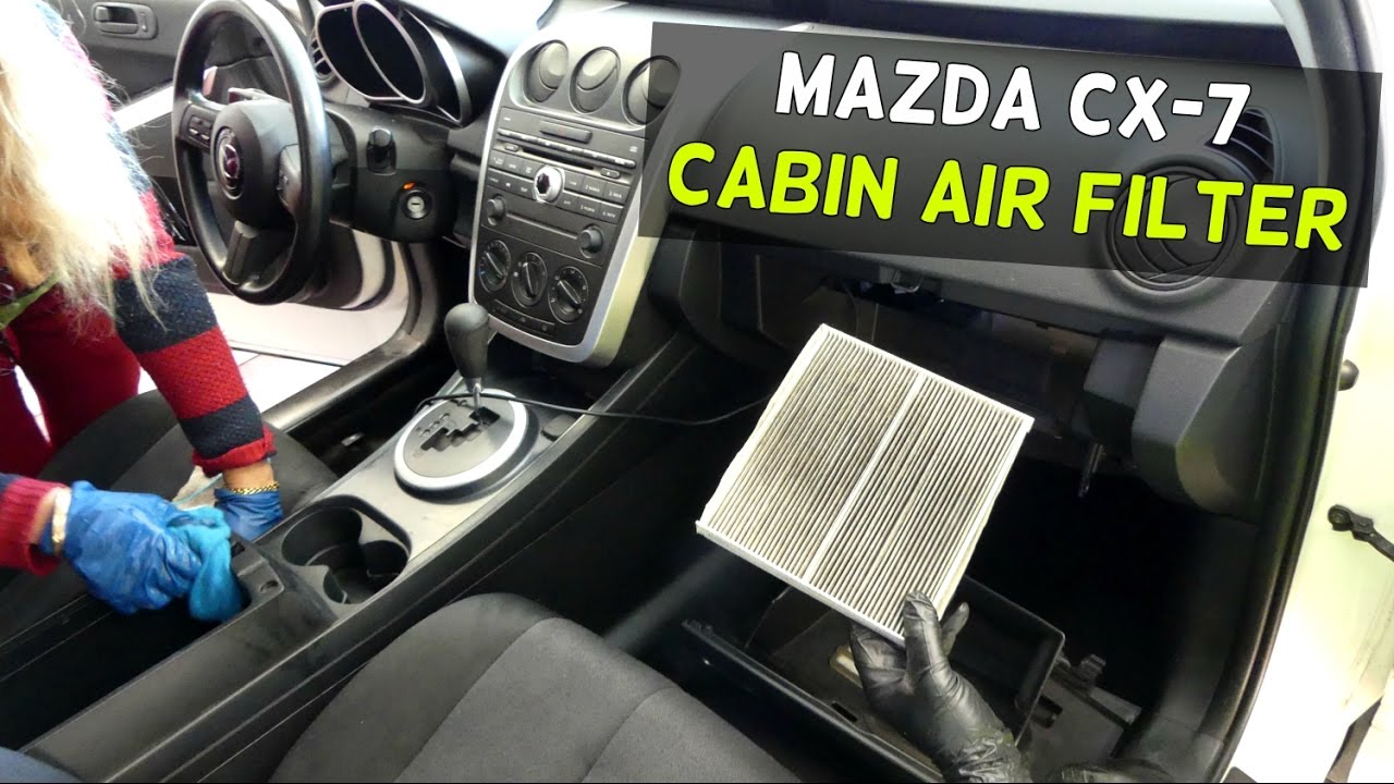 mazda cx 7 cabin air filter replacement removal cx7 youtube. Black Bedroom Furniture Sets. Home Design Ideas