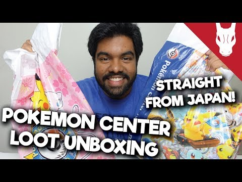 EPIC Pokemon Center Loot Unboxing! - Straight from Japan!