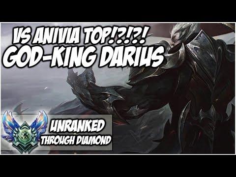 GOD-KING DARIUS Vs Anivia Top!?!?! - Unranked through Diamond | League of Legends thumbnail