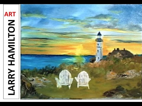 "Paint Along with Larry Hamilton- Feb. 18, 2015 ""Portland Head Lighthouse"""