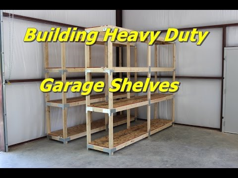 Building Heavy Duty Garage Shelves