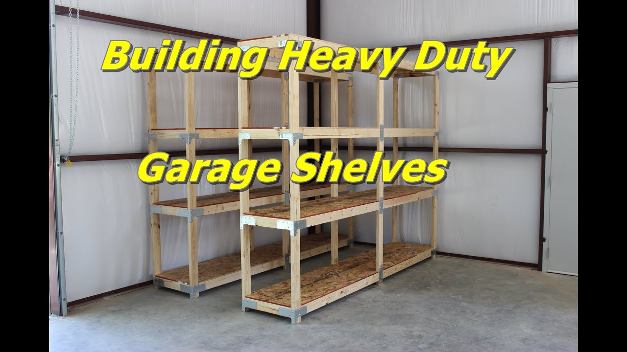 building heavy duty garage shelves youtube. Black Bedroom Furniture Sets. Home Design Ideas
