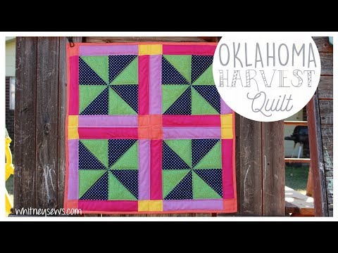 Oklahoma Harvest | Full Quilt Tutorial & Arteza GIVEAWAY | Whitney Sews