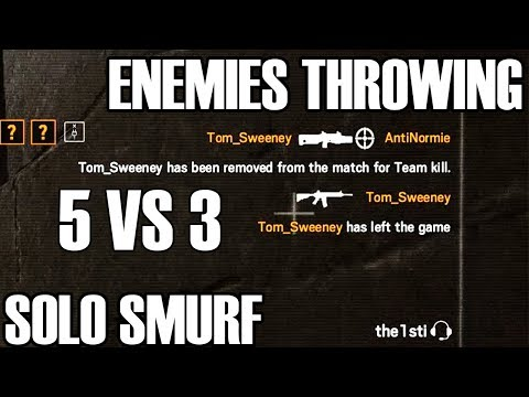 Solo Smurf: Throwing It All Away - Rainbow Six Siege