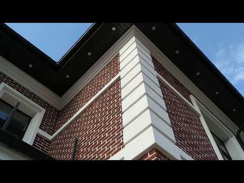Клинкерная плитка на газобетоне, резанный кирпич ручной формовки на пенополласте СФТК Мокрый Фасад
