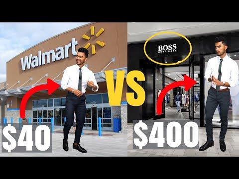 $40 Walmart Outfit vs $400 Hugo Boss Outfit