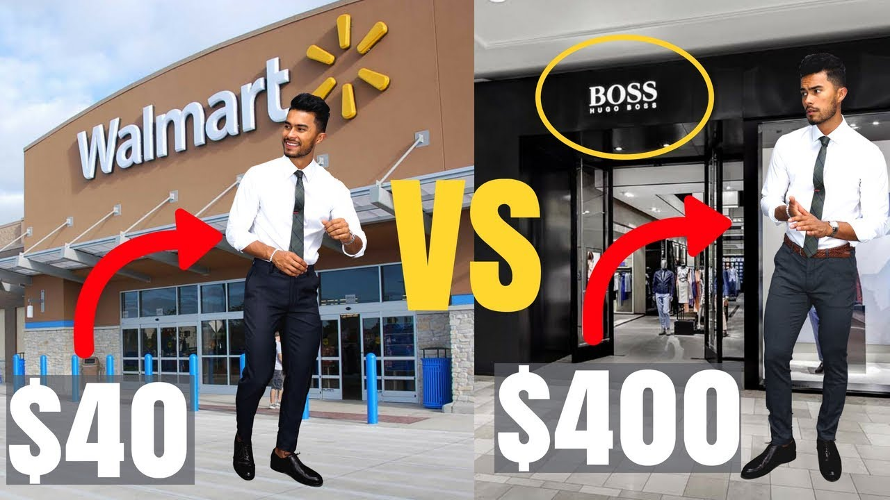 32e867a7c42  40 Walmart Outfit vs  400 Hugo Boss Outfit - YouTube