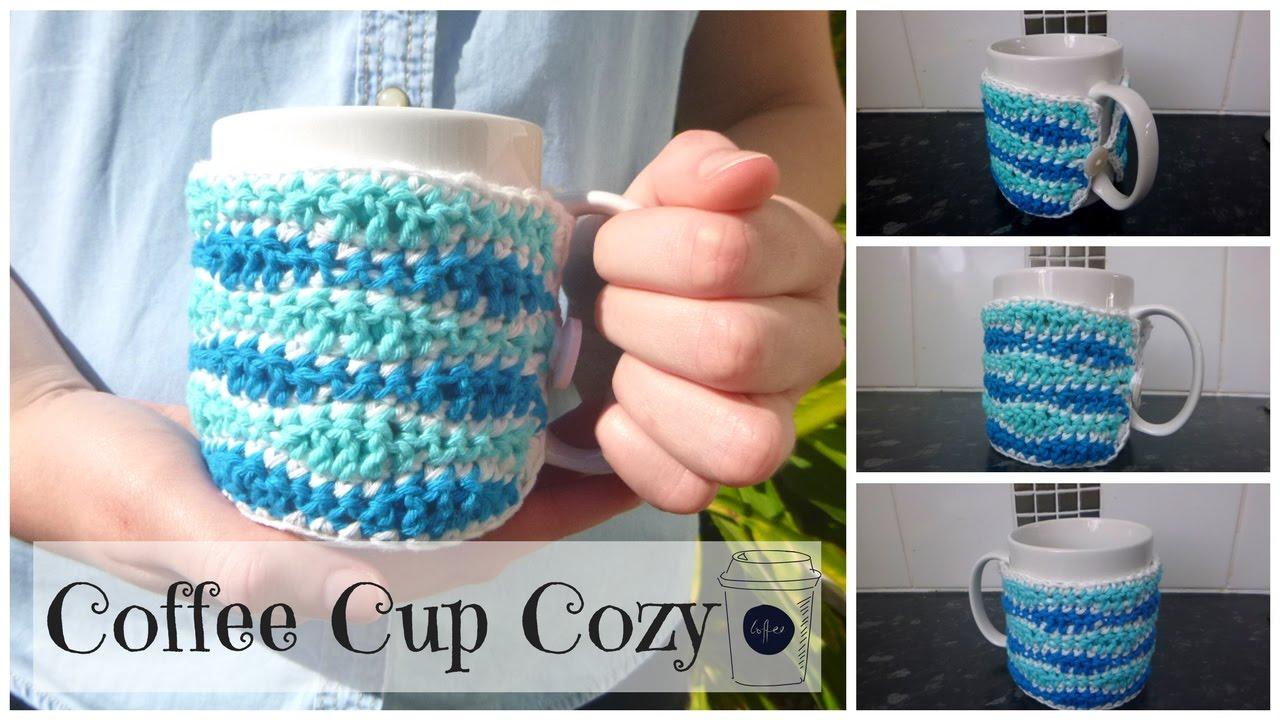 Crochet Coffee Cup Cozy Tutorial Crochet Coffee Mug Cozy Youtube