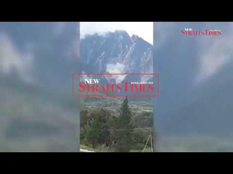 Massive landslide in Mt Kinabalu causes panic among locals