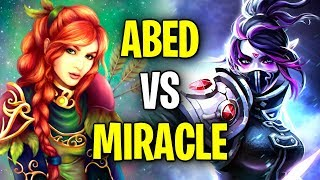MIRACLE vs ABED Epic Midlane Fight - Incredible Plays