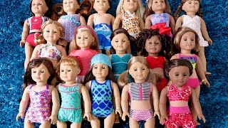 All My American Girl Doll Swimmers