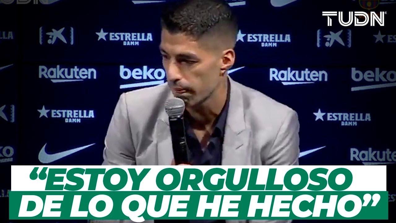 MUY TRISTE: ¡Luis Suárez rompe en llanto en su despedida del Barcelona! I TUDN