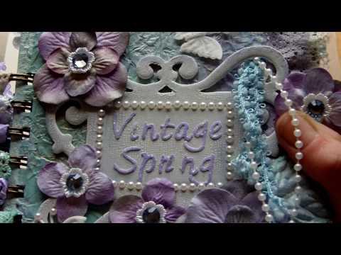 Vintage Spring Mini Book / Album - Part 1