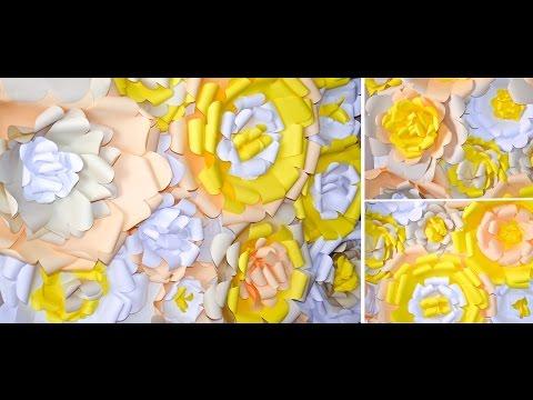 Стенд из бумажных цветов. Бумажные цветы. Подготовка к первому Дню Рождения. ЭПИЗОД 5
