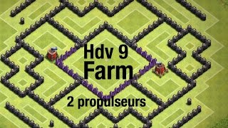 Speed building hdv 9-2 propulseur d'air CLASH OF CLANS