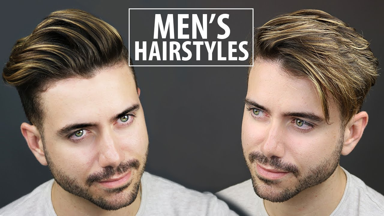 2 Quick and Easy Hairstyles for Men  Mens Hairstyle Tutorial  ALEX COSTA  YouTube