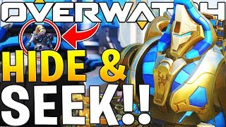 OVERWATCH NEW MAP HIDE AND SEEK WITH FRIENDS!!