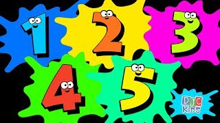 Splat! Lets Count from 1 to 5! A simple numbers video for kids, preschool, kindergarten, toddlers.