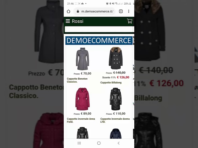 Demo E-commerce Mobile - LibertyCommerce Academy