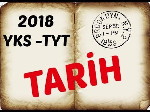 2018 TYT - YKS  TARİH ÖRNEK SORULARI