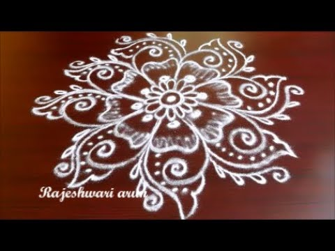 navaratri special simple easy rangoli designs without dots ...