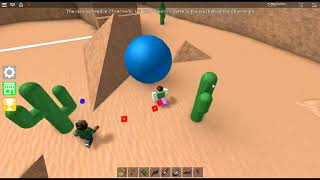 ROBLOX / Epic Minigames / Minigames / Rolling Race (Canyon-Blue)