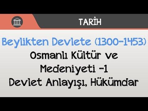 Beylikten Devlete (1300-1453) - Osmanlı Kültür ve Medeniyeti -1 / Devlet Anlayışı, Hükümdar