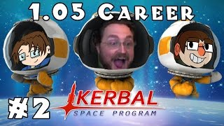 Kerbal Space Program | 1.05 Career! | Ep #2 -- Rolling For Science!