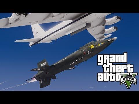 GTA V Fastest aircraft ever built! X-15 rocket craft (MOD)