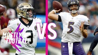 Fantasy Football: Saints Face the Ravens in a Tough Match | Mostly Football