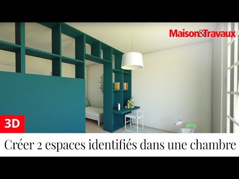 cr er deux espaces identifi s dans une chambre d enfant youtube. Black Bedroom Furniture Sets. Home Design Ideas