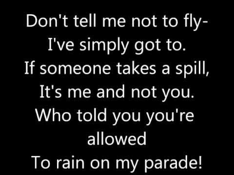 Don't Rain On My Parade Lyrics
