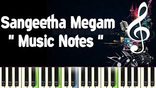 Sangeetha Megam (udaya geetham) Piano, Guitar, Saxophone, Voilin Notes /Midi Files/Karaoke