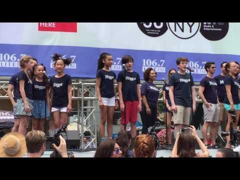 "MATILDA cast sings ""Revolting Children"" at Broadway in Bryant Park 2016"