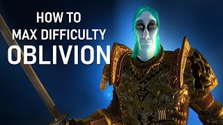 How To Max Dİfficulty Oblivion