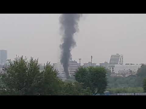 Incendio in zona Bovisa a Milano