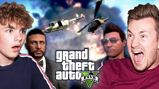 BROTHERS PLAY GTA V FOR THE FIRST TIME