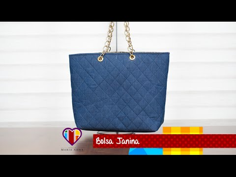 12886f18a Bolsa de tecido/jeans Janina. Jeans bag tutorial. How to do a jeans bag.  Jeans bag video - YouTube