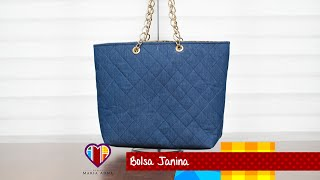Bolsa de tecido/jeans Janina – Maria Adna Ateliê