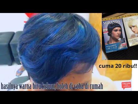 Highlight Rambut Pakai Miranda Warna Biru Modal 20 Ribu Youtube