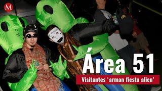 Visitantes 'arman fiesta alien' en el Área 51