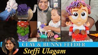 How to make cĮay in Tamil | Homemade modelling clay / play doh | Woodworking Bunny Feeder