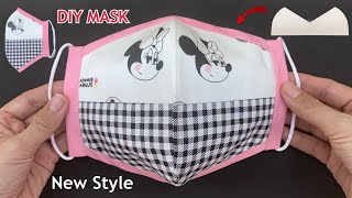 New Design Diy Breathable Face Mask 2 Tone Beautiful Style Easy Pattern Sewing Tutorial At Home